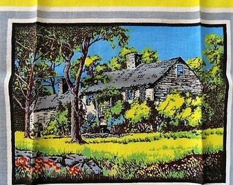 Vintage Kay Dee Handprints Towel, Linen Kitchen Towel, Screenprint Tea Towel, Retro Kitchen Accessory, Unused, Sticker, Amish Country
