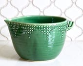Batter Bowl, 8 Cup - Emerald Green - Handmade Mixing Bowl - Modern Home Decor - READY TO SHIP