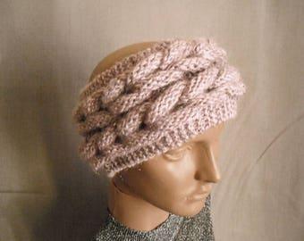 Knitted headband. ear warmer. Winter accessories. cable knit Ear Warmer. knit headband