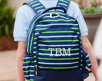 FREE Personalization ~ Personalized Shoreline Backpack ~ Boys Monogrammed Book Bag ~ Personalized Backpack ~ Shoreline Backpack ~ Quick ship