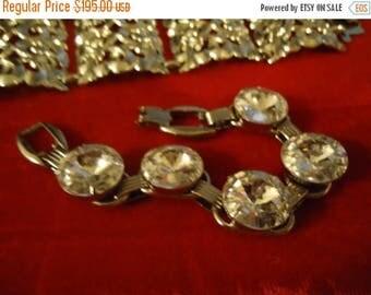 Now On Sale Rare Vintage Juliana 5 Link Rivoli Rhinestone Bracelet 1960's Collectible Jewelry Mad Men Hollywood Regency Black Tie Formal D &
