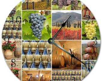 Horloge de tonneau de vin etsy - Tonneau de vin decoration ...