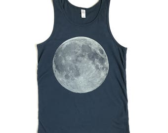 BLUE men's MOON full moon tank top in S, M, L and 2XL