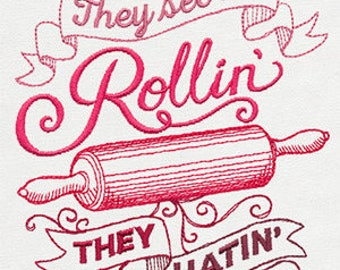 They See Me Rollin They Hatin' Embroidered Towel