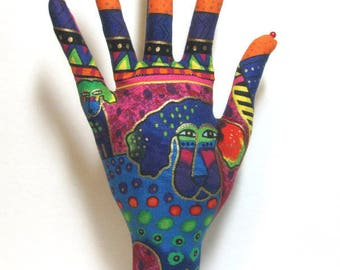 Laurel Burch Signature Dogs n Doggies Fabric HAND-Stand Jewelry Display Ready to Ship