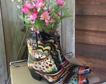 Nomad Cowboy Style Ladies Rubber Rain Boots
