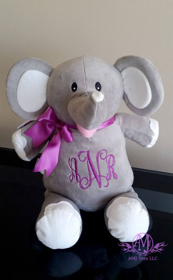 Personalized elephant personalized stuffed animal monogrammed il570xn negle Gallery