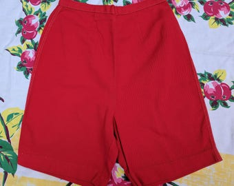 1950s Red High Waist Pin Up Shorts by Russ