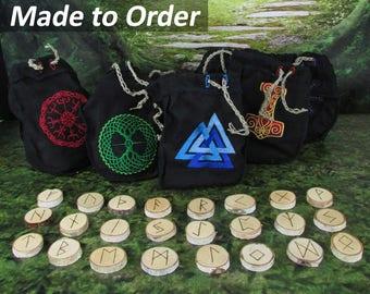Viking Runes - Rune Set - Norse Runes - Elder Futhark Runes - Asatru Runes - Divination Runes - Odin Runes - Gift Runes - Made to Order