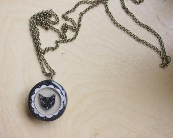 Small Black Cat Necklace