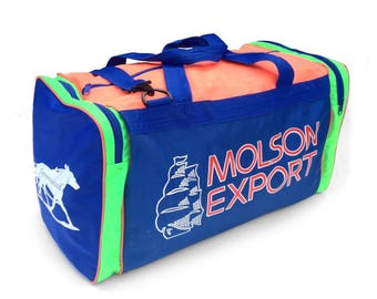 Rad 80 Neon Molson Export Color Block Duffle Bag