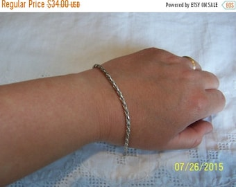 TWICE A YEAR, 25% Off Vintage Rope Bracelet. Sterling silver.