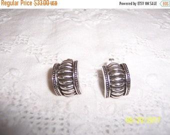 TWICE A YEAR, 25% Off Vintage Half Hoop earrings. Sterling silver.