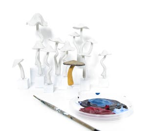 Party Activity set of 10, Mushroom sculpture painting, wedding favors, nature theme party, creative gifts, wholesale