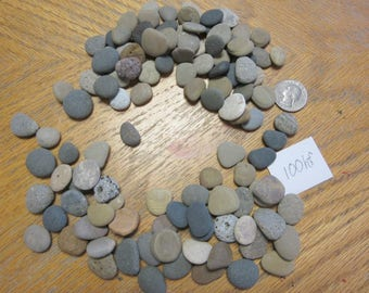 Mosaic Stone Supplies Natural Beach Stones Lot of 100 Hand Sized and Sorted