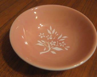 Illinois Central Railroad ICRR Syracuse China Coral Pattern Bowl 1941