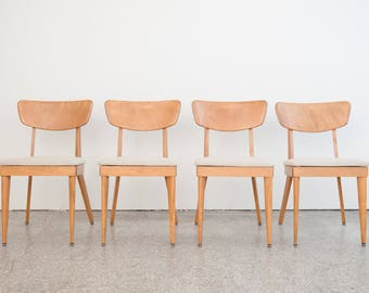Mid Century Heywood Wakefield Dining Chair Set