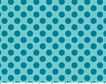 Teal Small Dots on Blue from Northcott Farbic's Urban Elementz Basix Collection