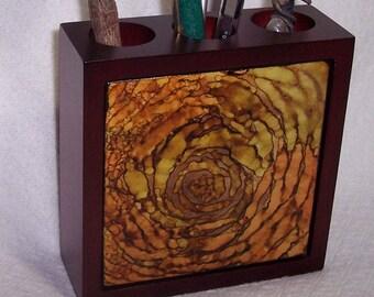 Wooden Pencil Holder / pen holder / decorative desk accessory / gift for teacher / Easter Gift / Mothers Day Gift / Paint brush holder /
