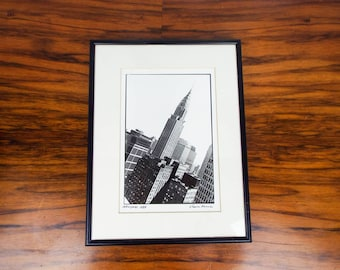 Vintage Signed Original Chaim Kanner Photograph Empire State Building New York, One of A Kind Housewarming Gift Idea, Modern Home Wall Decor