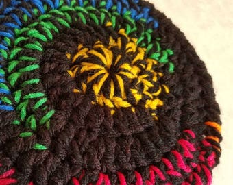 "Crocheted ""Bev's Frizbee"" - flying disc"