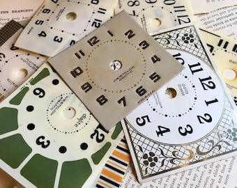 Westclox Clock Faces- 15pcs- repair, collage, altered
