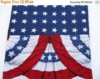 30% OFF SALE, Old Glory America Bunting Fabric...USA Americana Flag Fabric, New Supply