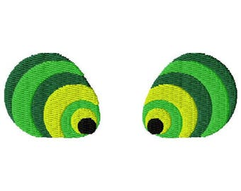 Crazy Eyes Embroidery Design - Instant Download