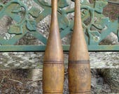 Vintage Juggling Clubs Set of 2