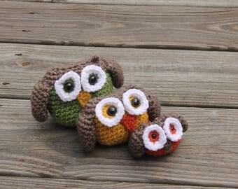Family of Owls, Owl Crochet, Crochet Owl Family, Amigurumi Owl Family, Amigurumi Owl, Owl Decor, Owl Home Decor, Crochet Owls,Mrs Vs Crochet