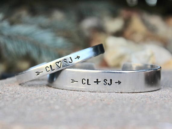 Couples Bracelet Set His Hers, Initials Couple Bracelet Set, Anniversary gift, Couple Bracelets, Jewelry for couples, Customize Bracelets