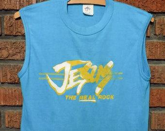 Vintage 80s  JESUS The Real Rock Sleeveless T-Shirt Women's S
