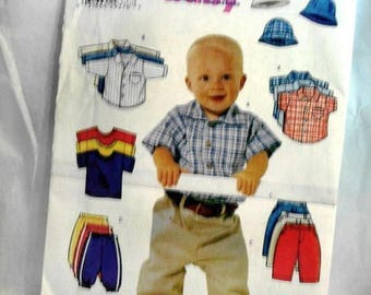 Butterick 6030 - toddler boys pattern -shirts-pants and hat