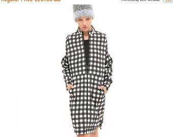 SALE 40% OFF Plaid top, zip up hoodie, Zip Sweatshirt, All over print, oversized sweatshirt - everyday dress- Hoodie Dress - cool dress, tim