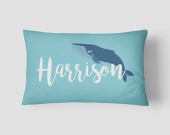 Personalised Name cushion Whale