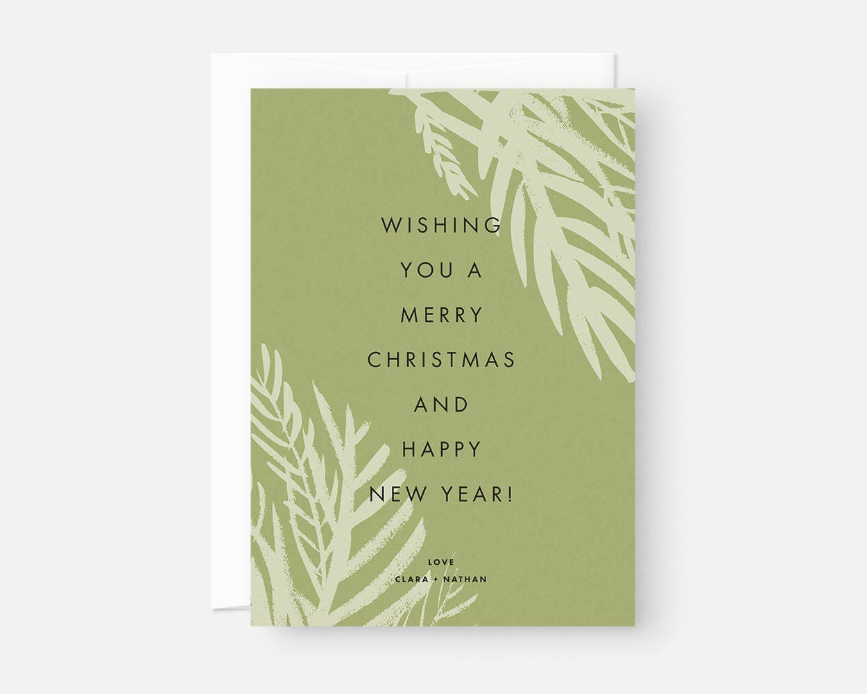 minimalist christmas card personalized holiday card no photos