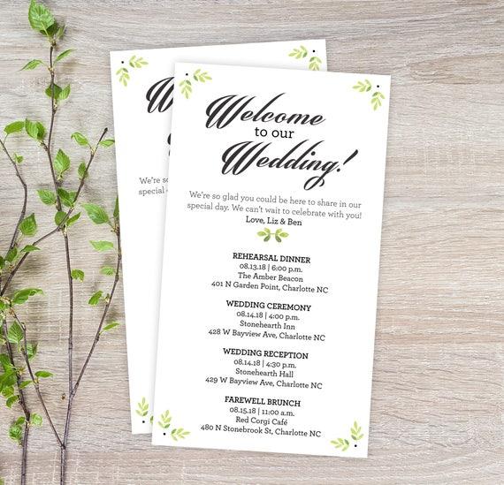 Garden wedding itineraries 25 wedding schedule cards ceremony il570xn junglespirit Image collections
