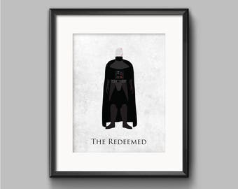 Star Wars Return of the Jedi - The Redeemed - Darth Vader Art Print - poster, empire, imperial, sith, jedi, anakin skywalker