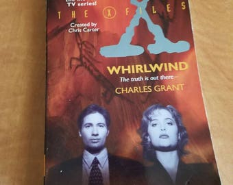 """Vintage X Files Fiction Book """"Whirlwind"""" 1995"""