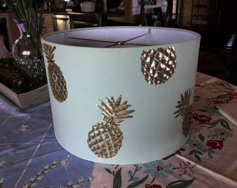 Gorgeous Summer Blue Pineapple lamp shade
