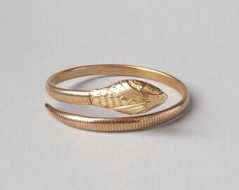 Vintage Gold Snake Bracelet. Forstner Gold Fill.