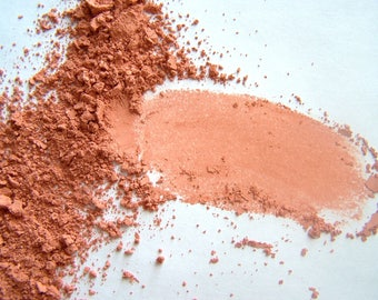 Mineral Blush - Coral Blush Powder - Soft Matte Finish Blush - Handmade Vegan Makeup - Vegan Blush