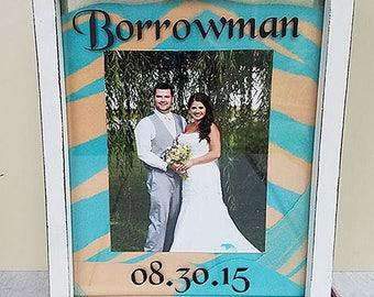 wedding sand ceremony -  bridal shower gift - wedding frame - photo frame personalized - personalized picture frame - personalized frame
