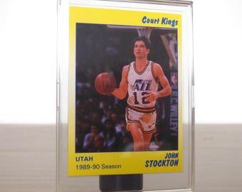 Star Co. 1990 John Stockton Basketball Card Court Kings Utah Jazz Basketball
