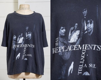 1989 Replacements Dont Tell a Soul Black Cotton T Shirt
