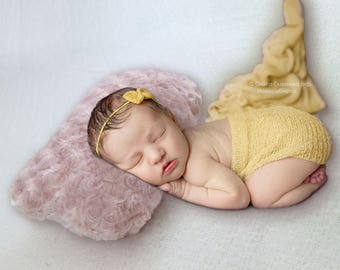 Handcraft Soft Faux Fur Pile Mini Pillow Newborn Photography props Baby shower Gift Newborn Basket stuffer