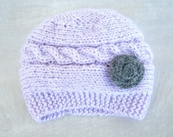 Baby Hat, Newborn Baby Girl Hat, Infant Hat Baby Girl Photo Prop,Baby Hat with flowers