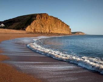 WEST BAY CURVES,  Dorset, Landscape photography, Wall Decor, Bridport, Beach, Coastal, East Cliff, Jurassic Coast.