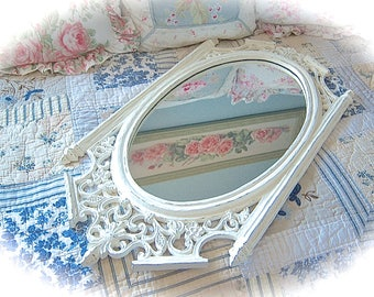 YOU PICK COLOR Shabby Ornate Baroque Large Big Scrolled Oval Wall Mirror Fancy Princess Home Decor Cottage Chic