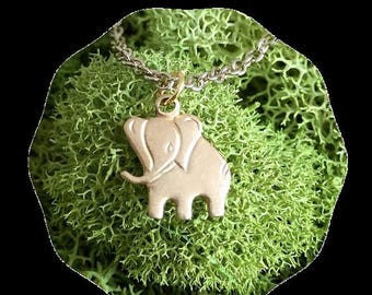60% OFF Sale Baby elephant necklace - Gold elephant necklace - Cute elephant necklace - Minimalist necklace - Lucky elephant - African Neckl